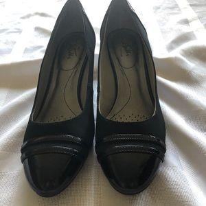 LifeStride Wedge Black Shoe
